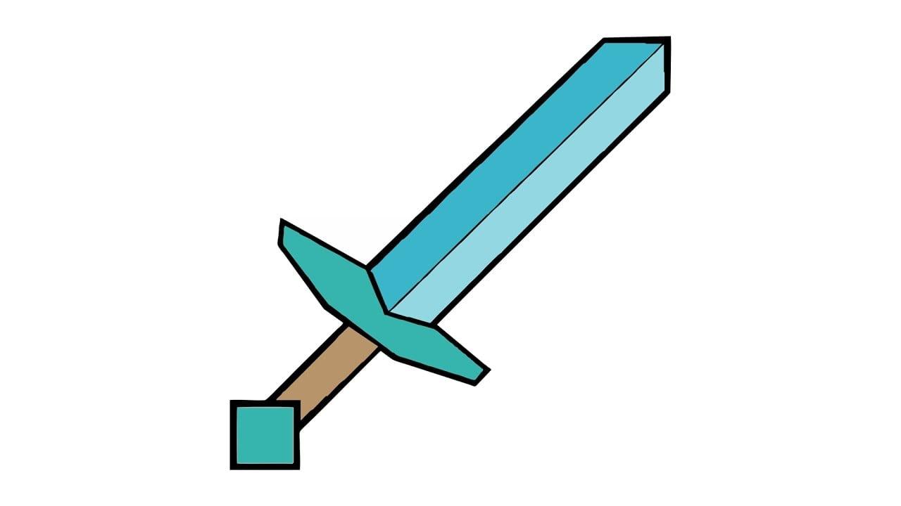 Como Desenhar Uma Espada (diamante, Arma)