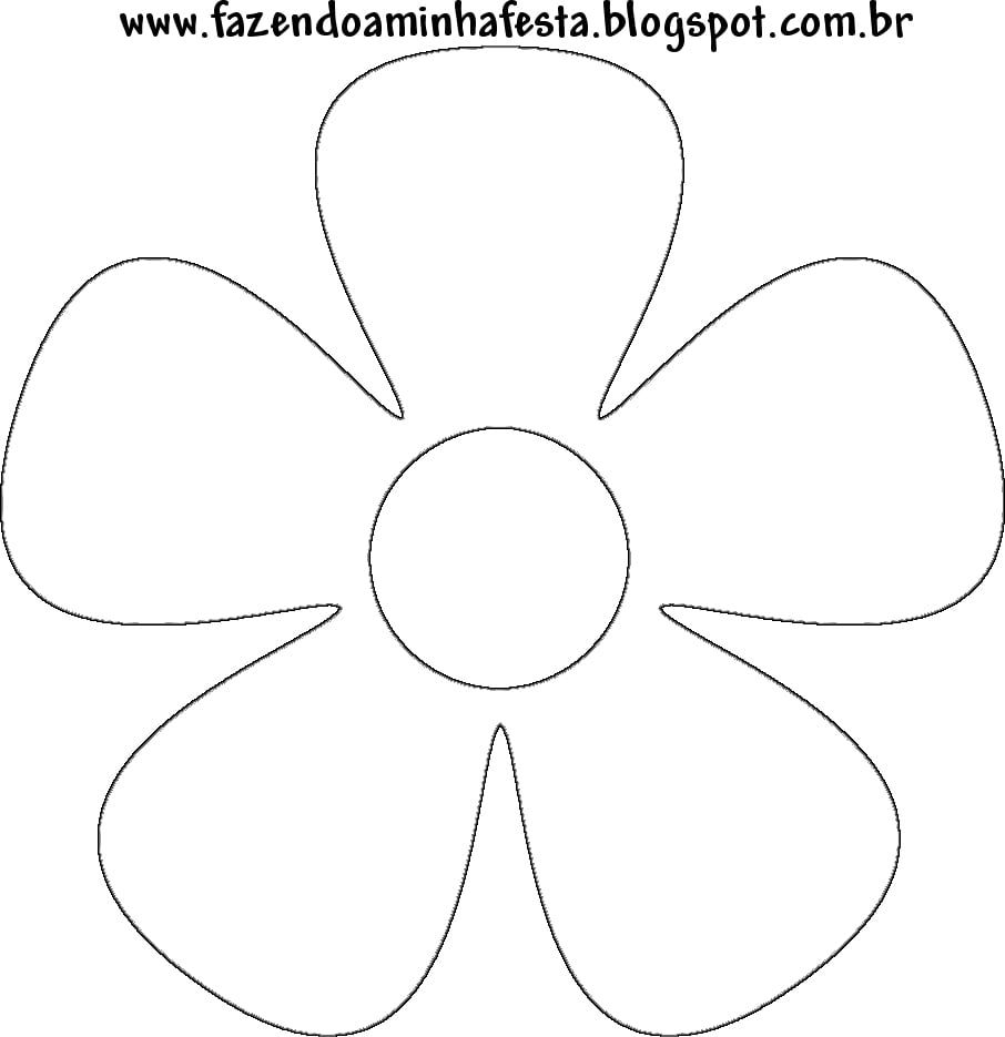 Moldes De Flores Para Imprimir, Fotos E Modelos