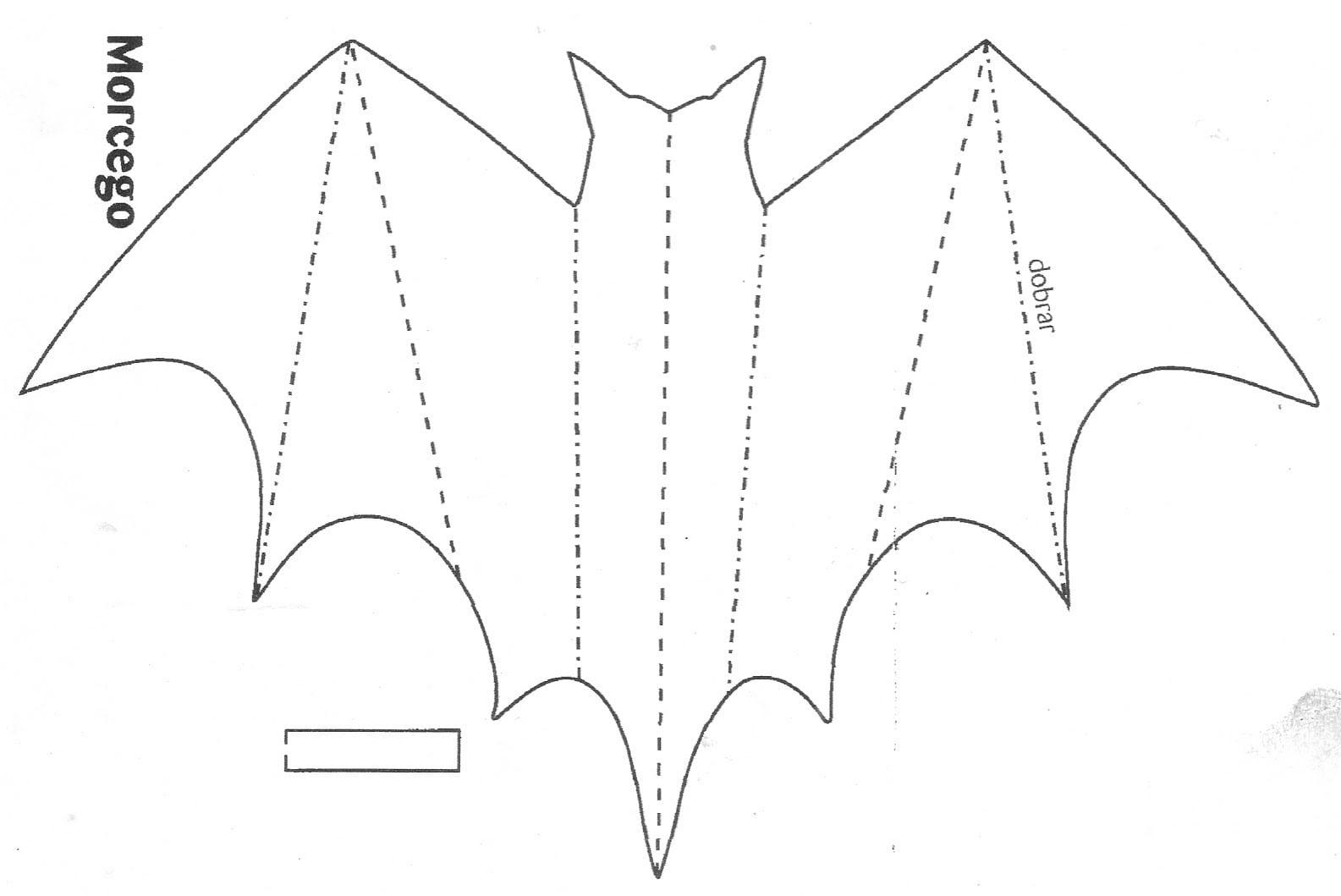 Desenhos De Morcegos Para Imprimir