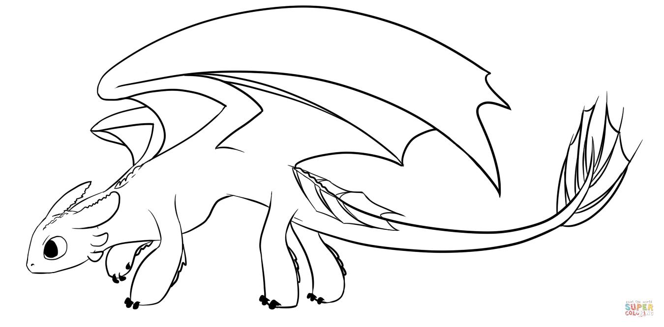 Desenho De Dragão Fúria Da Noite Para Colorir