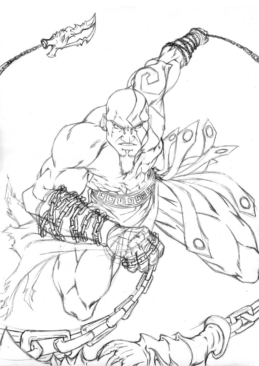 To God Of War Coloring Pages