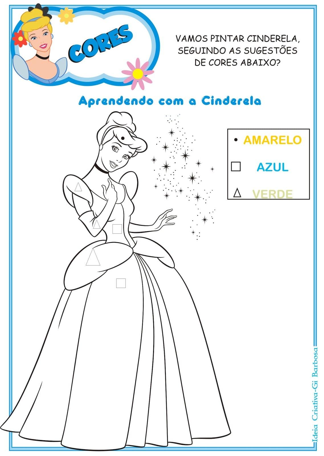 Educativas Das Princesas Disney Para Imprimir Grátis