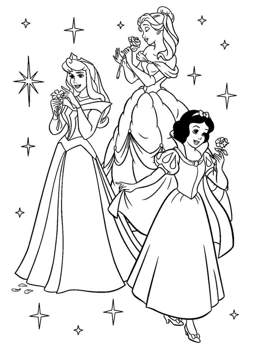 Princesas Para Colorir E Imprimir
