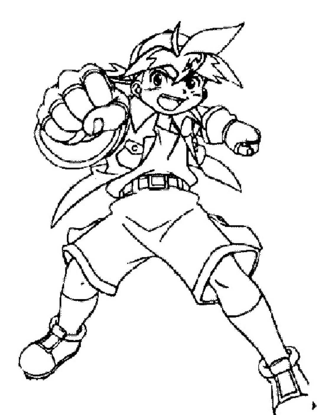 Printable Tyson Beyblade Coloring Pages