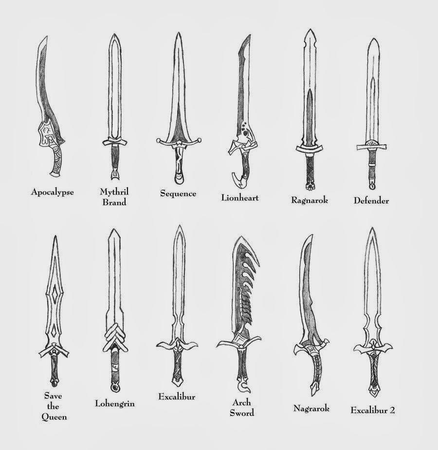 Como Desenhar Mangá  Espadas Sword