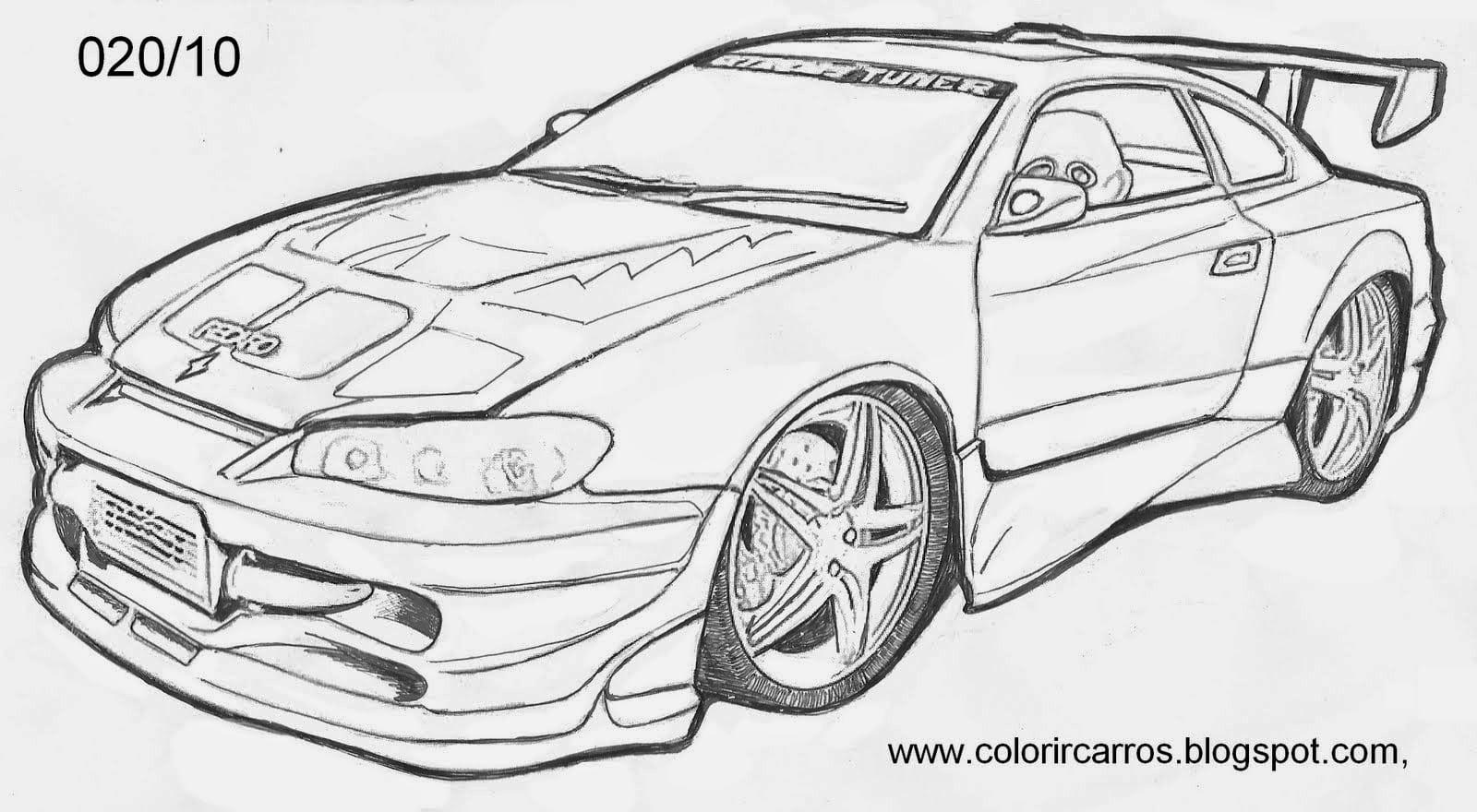 Desenhos Para Colorir Carros Camaro