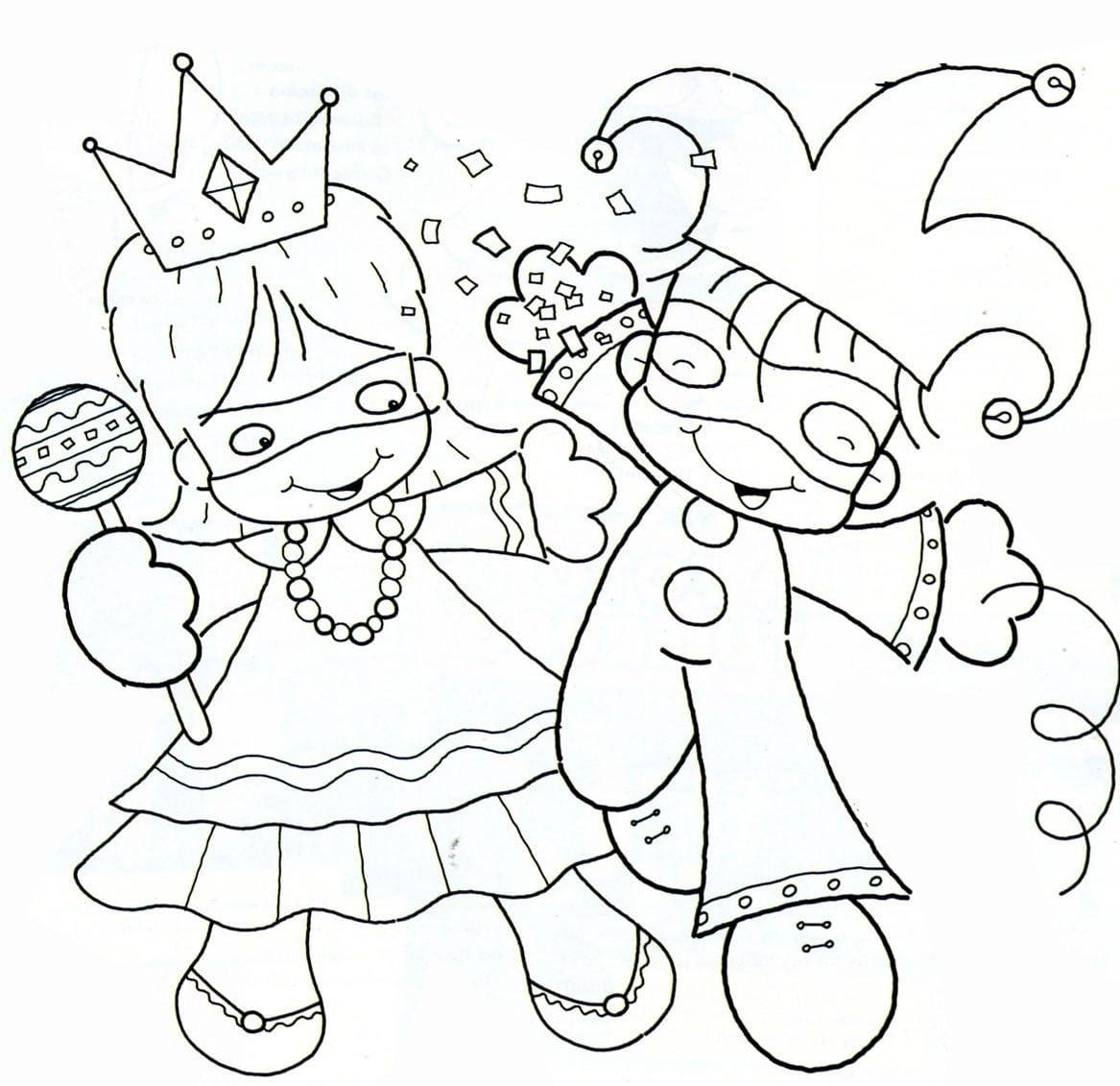 Desenhos De Carnaval Para Imprimir