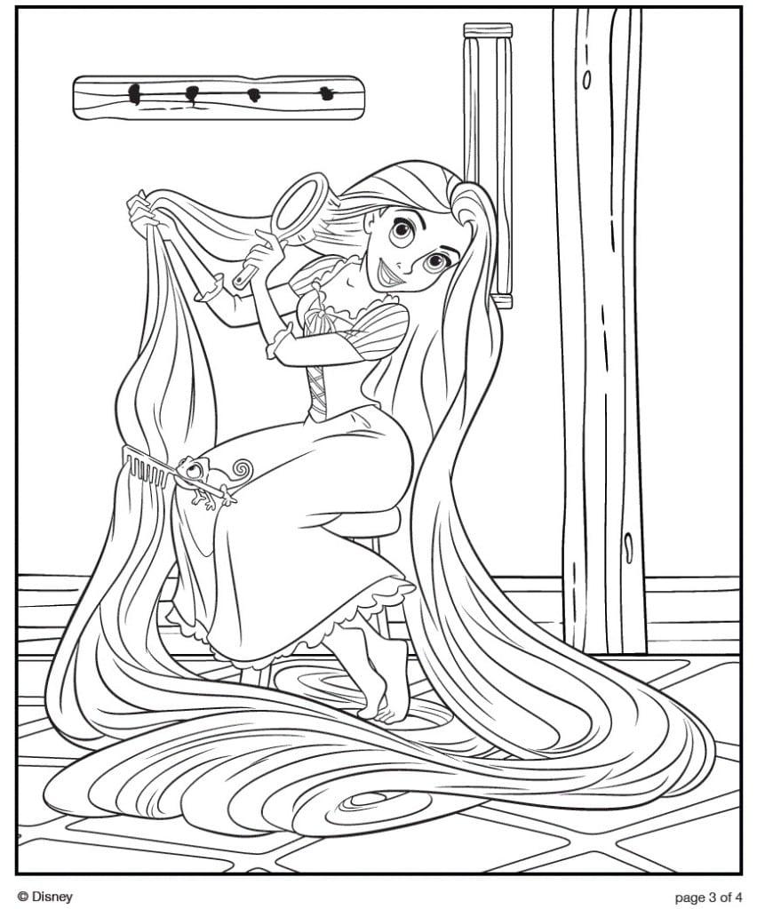 Desenho Rapunzel Para Colorir