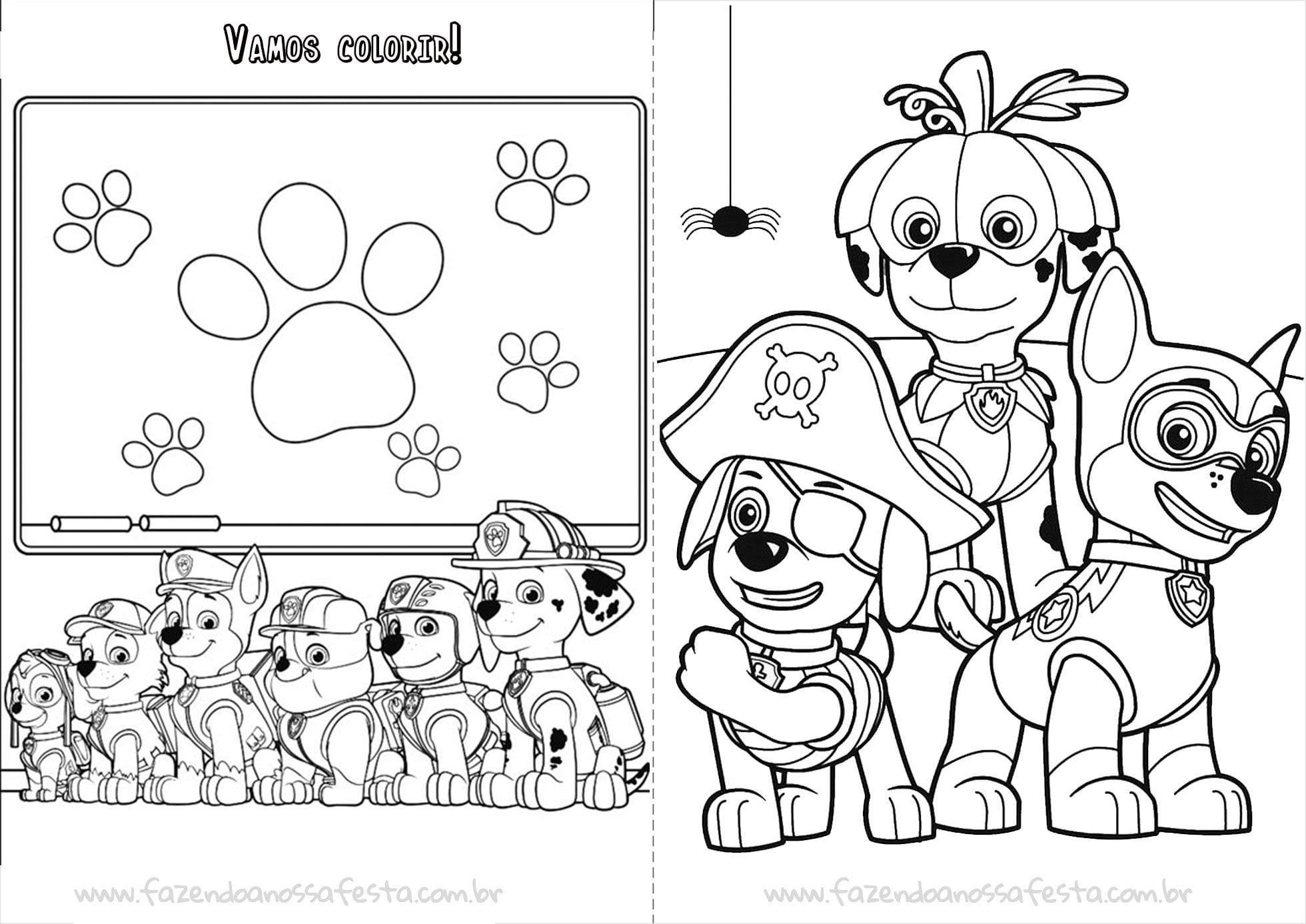 Livrinho Para Colorir Do Patrulha Canina Página 6