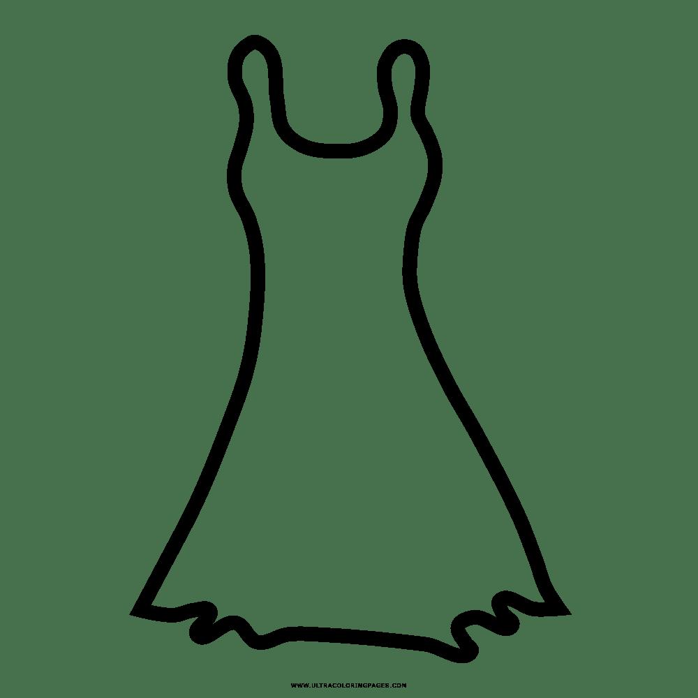 Vestido Desenho Para Colorir