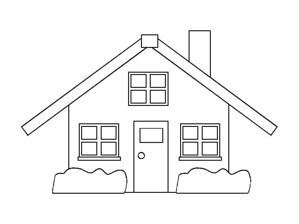 Desenhos Para Pintar Casas 12