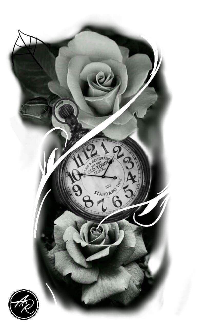 Clock Drawing Tattoo Tatuagem De Relogio