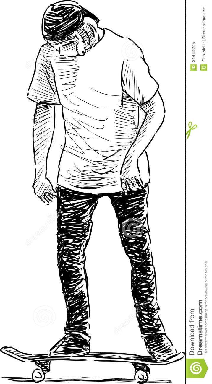 Adolescente No Skate Ilustração Do Vetor  Ilustração De Ativo