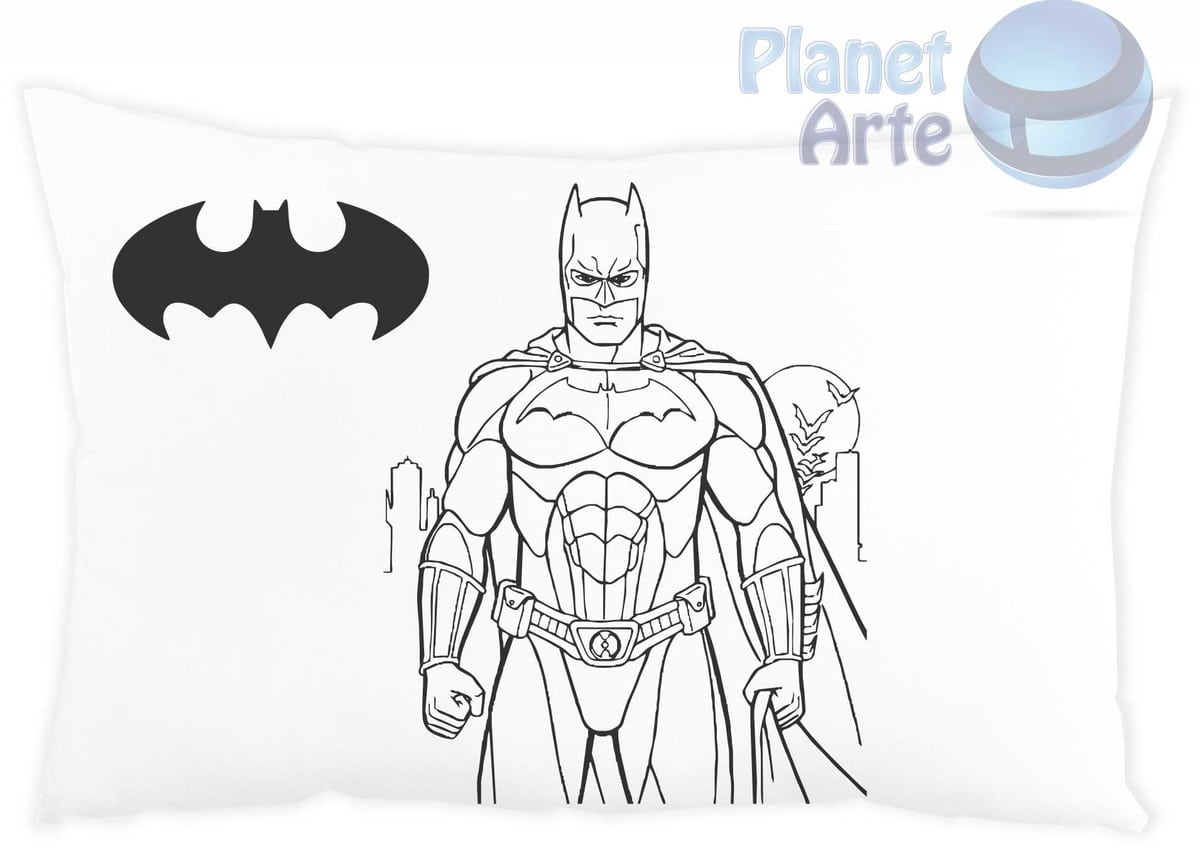 Almofada Para Colorir Batman No Elo7