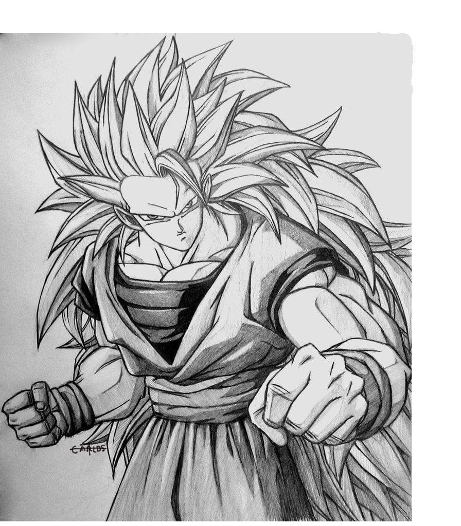 Carlos Desenhos  Dragon Ball Z Goku Ssj3