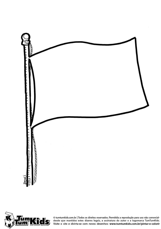 Imagem Da Bandeira Para Colorir – Pampekids Net
