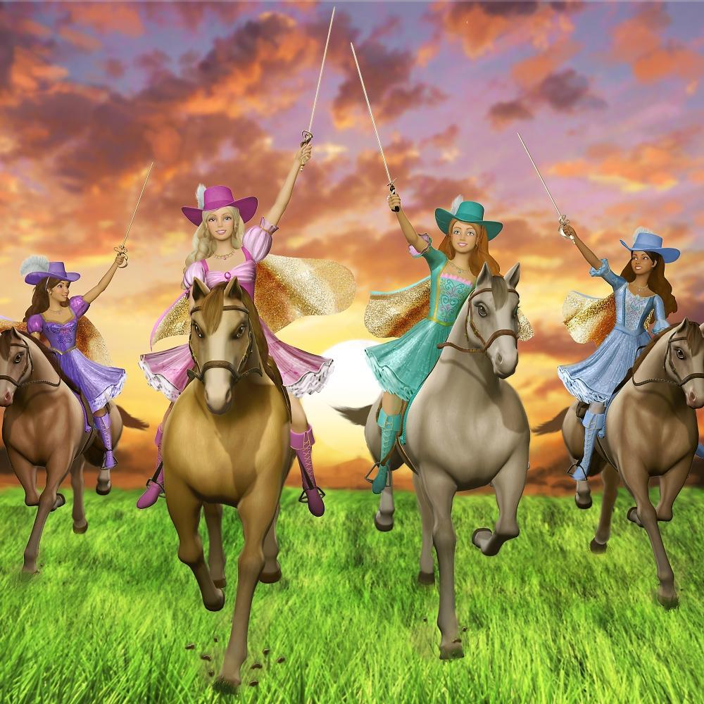 Universo Rosa Barbie  Barbie E As Tres Mosqueteiras