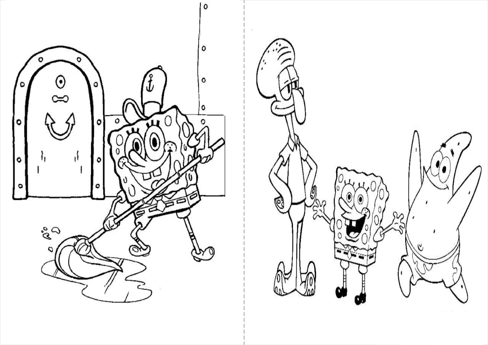 Turma Do Bob Esponja Para Colorir