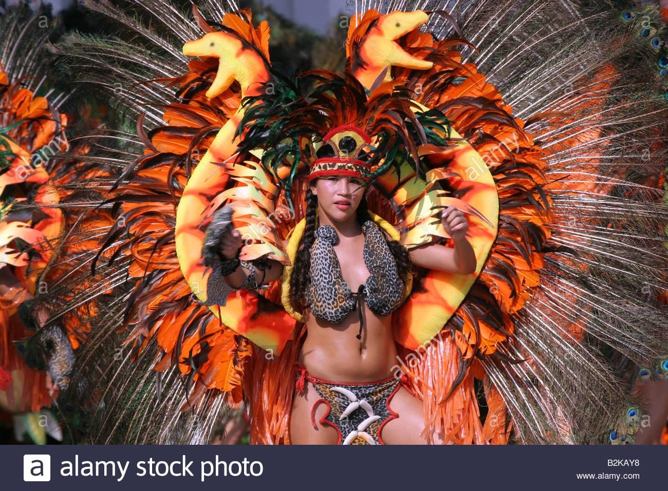 Brazil Dance Dancer At The Boi Bumba Show Parintins Carnival