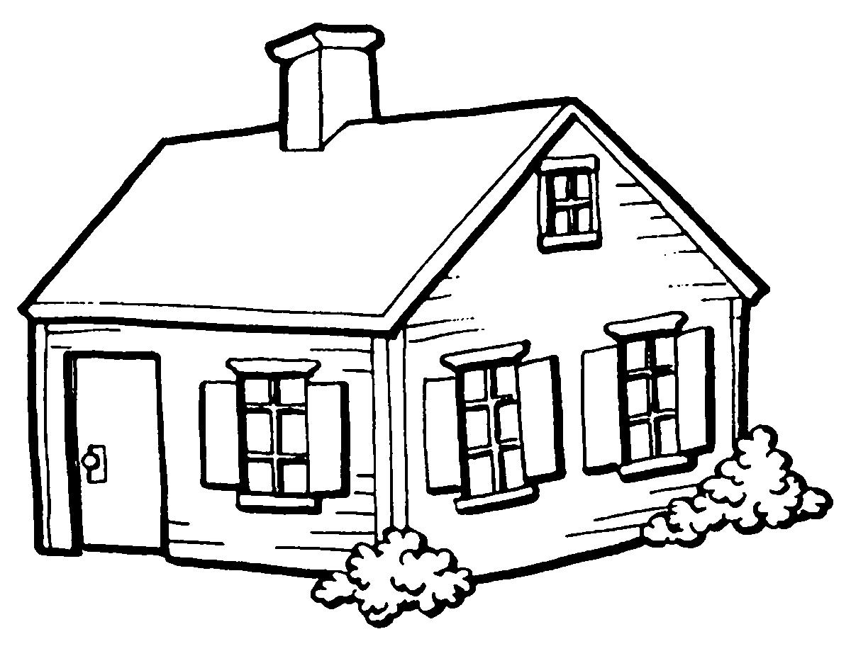 Figuras De Casas Para Colorir