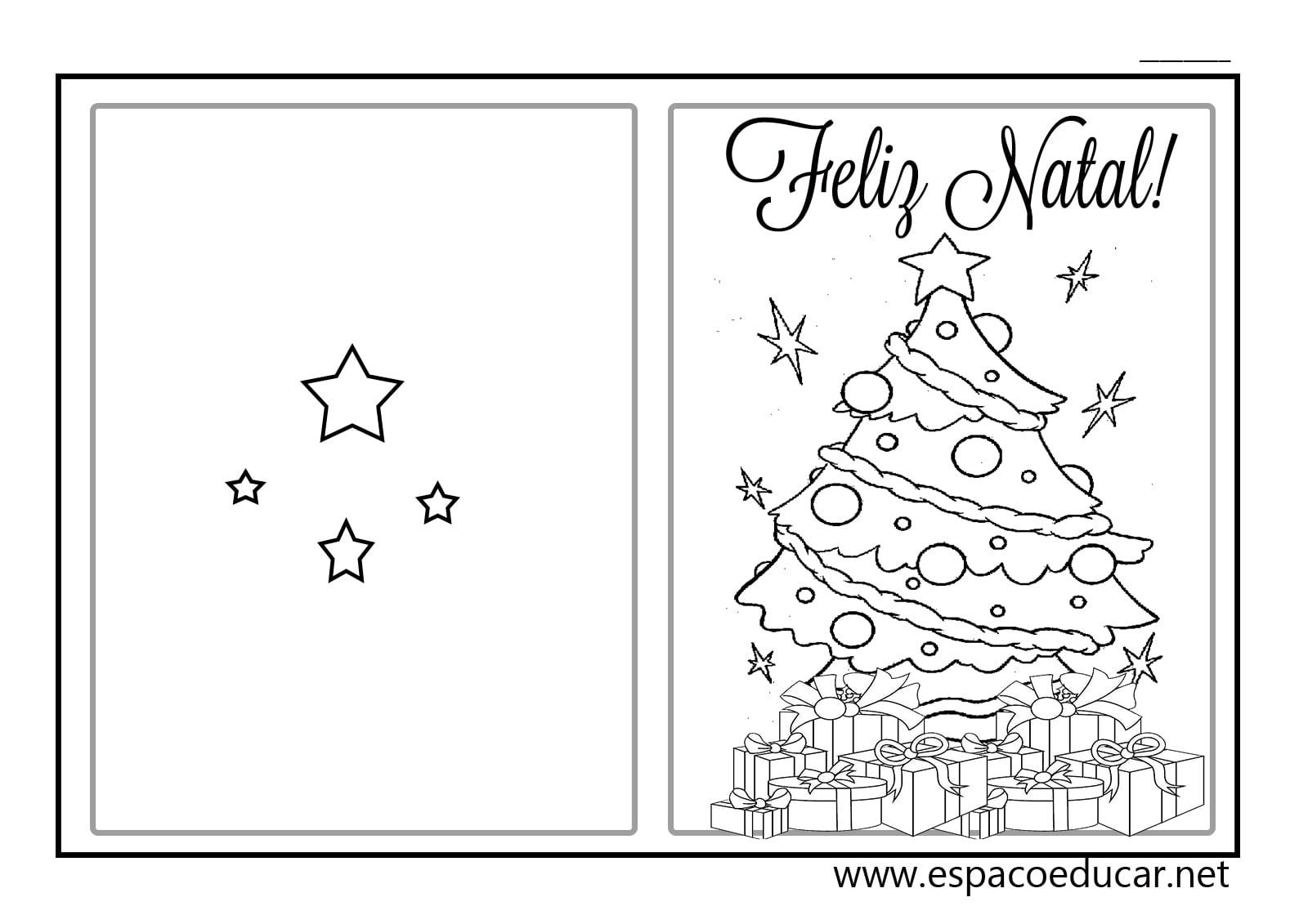 EspaÇo Educar  Lindos Cartões De Natal Prontos Para Imprimir