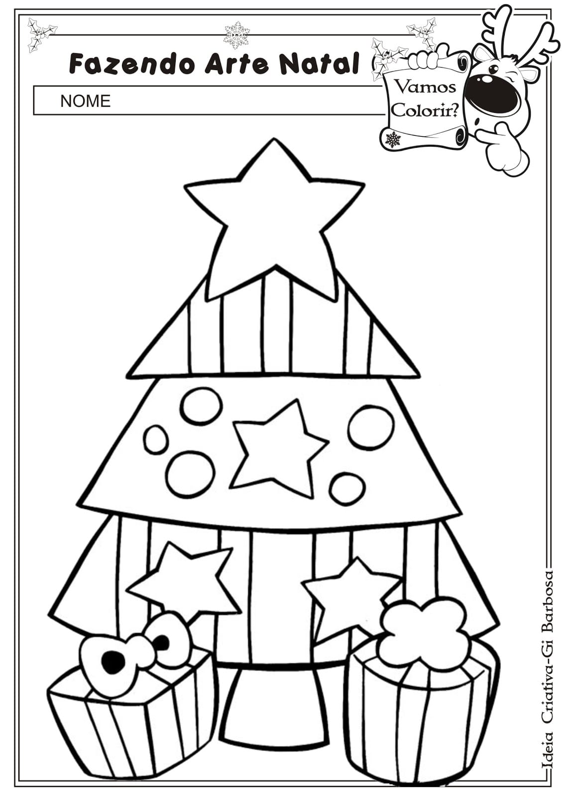 Cart Es De Natal Para Colorir E Imprimir – Pampekids Net