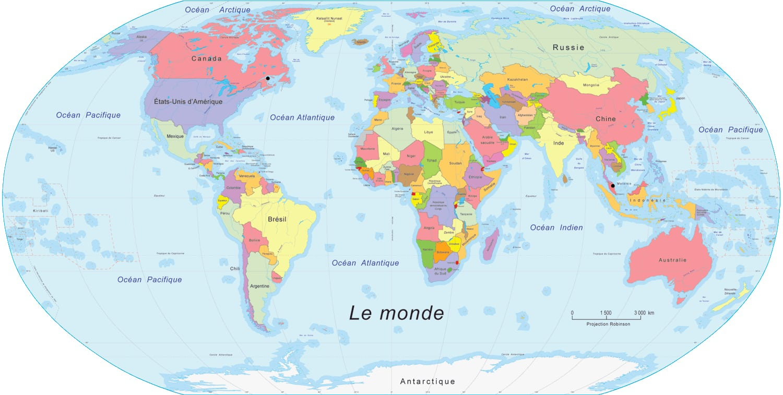 Grande Mapa Del Mundo Para Los Niños Libre