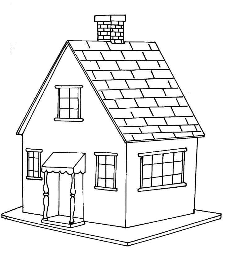 Desenhos De Casas Para Colorir E Pintar