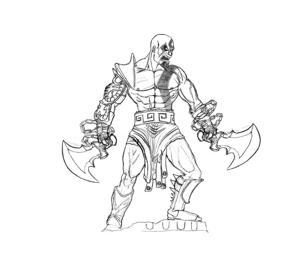 Colorir Kratos – Pampekids Net