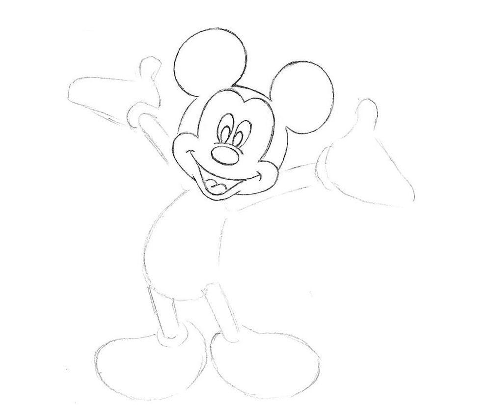 Como Desenhar O Mickey Mouse