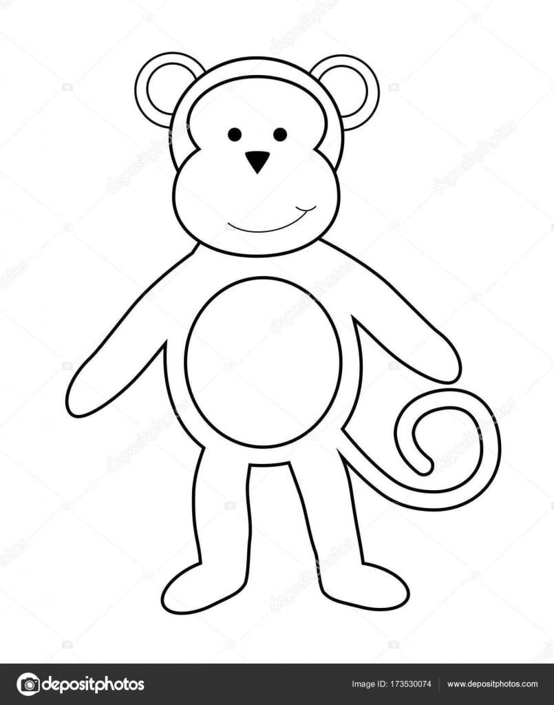 Página De Macaco Para Colorir — Vetores De Stock © Keeweegirl