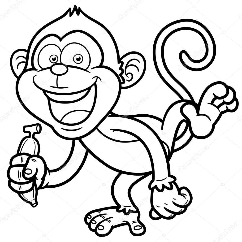 Boneco De Um Macaco Com Banana