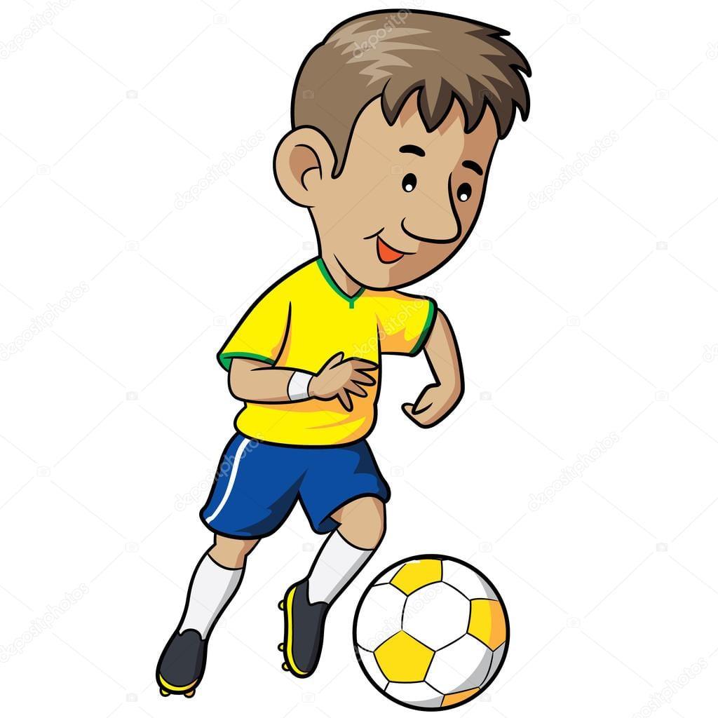 Desenho De Criança De Futebol — Vetor De Stock © Rubynurbaidi