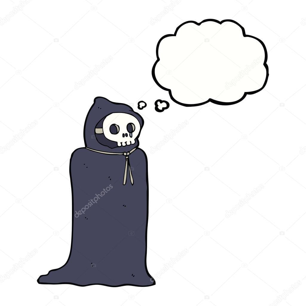 Desenhos Animados Fantasia De Halloween Assustador Com Balão De