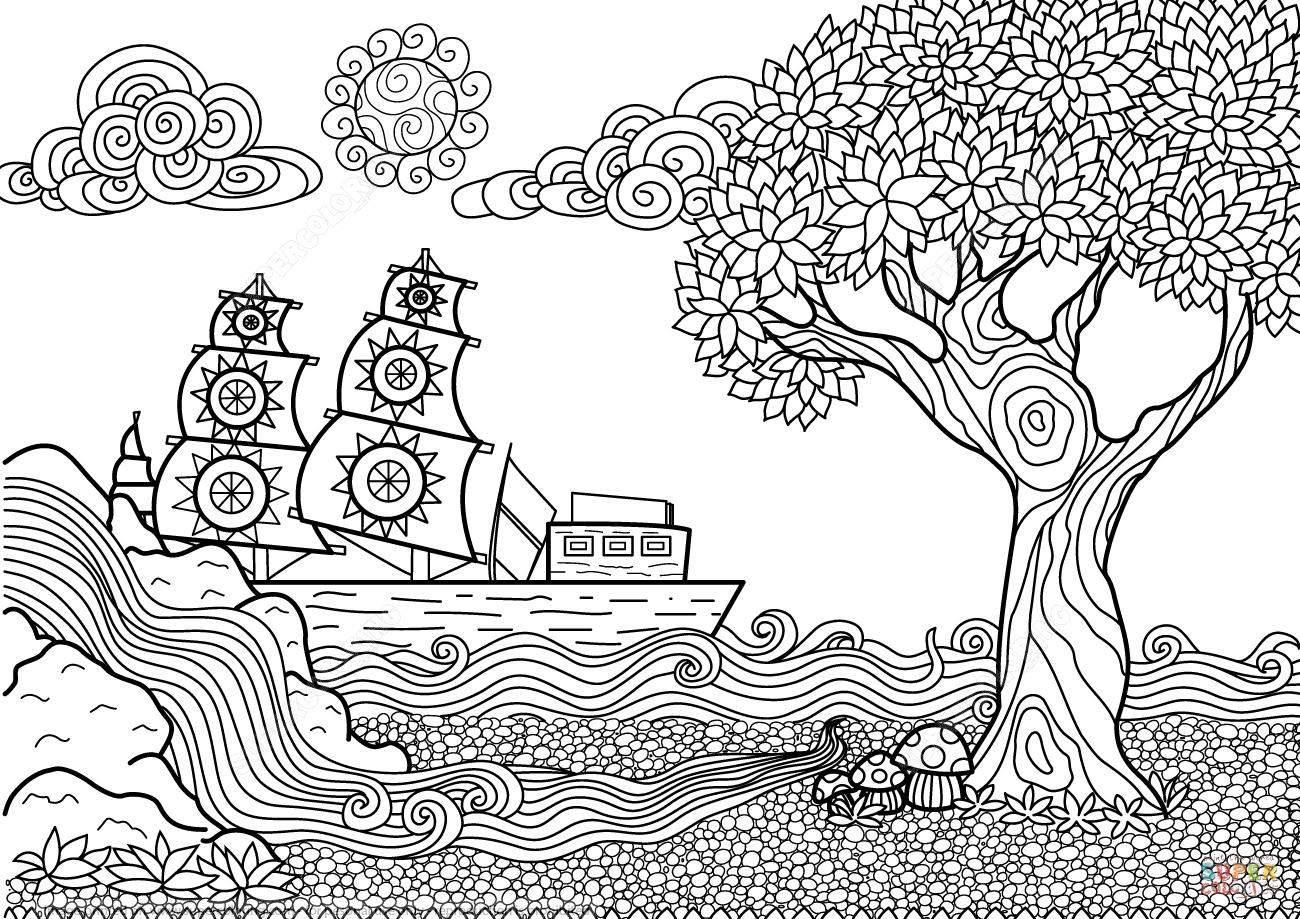 Desenho De Paisagem Para Imprimir