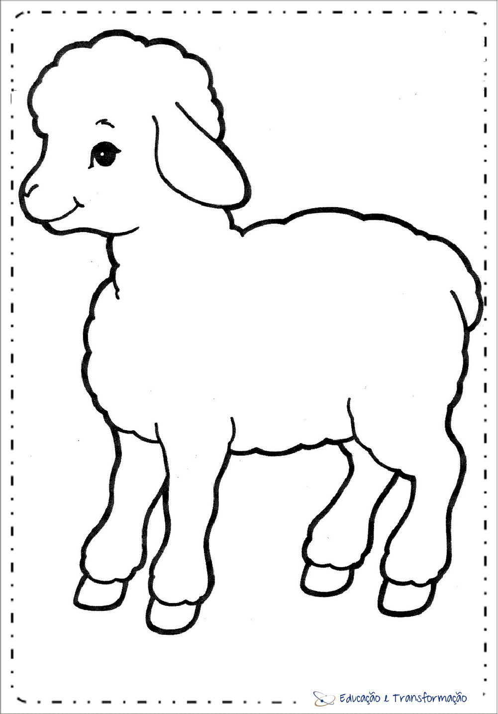 Desenhos De Ovelhas Para Colorir – Educação E Transformação