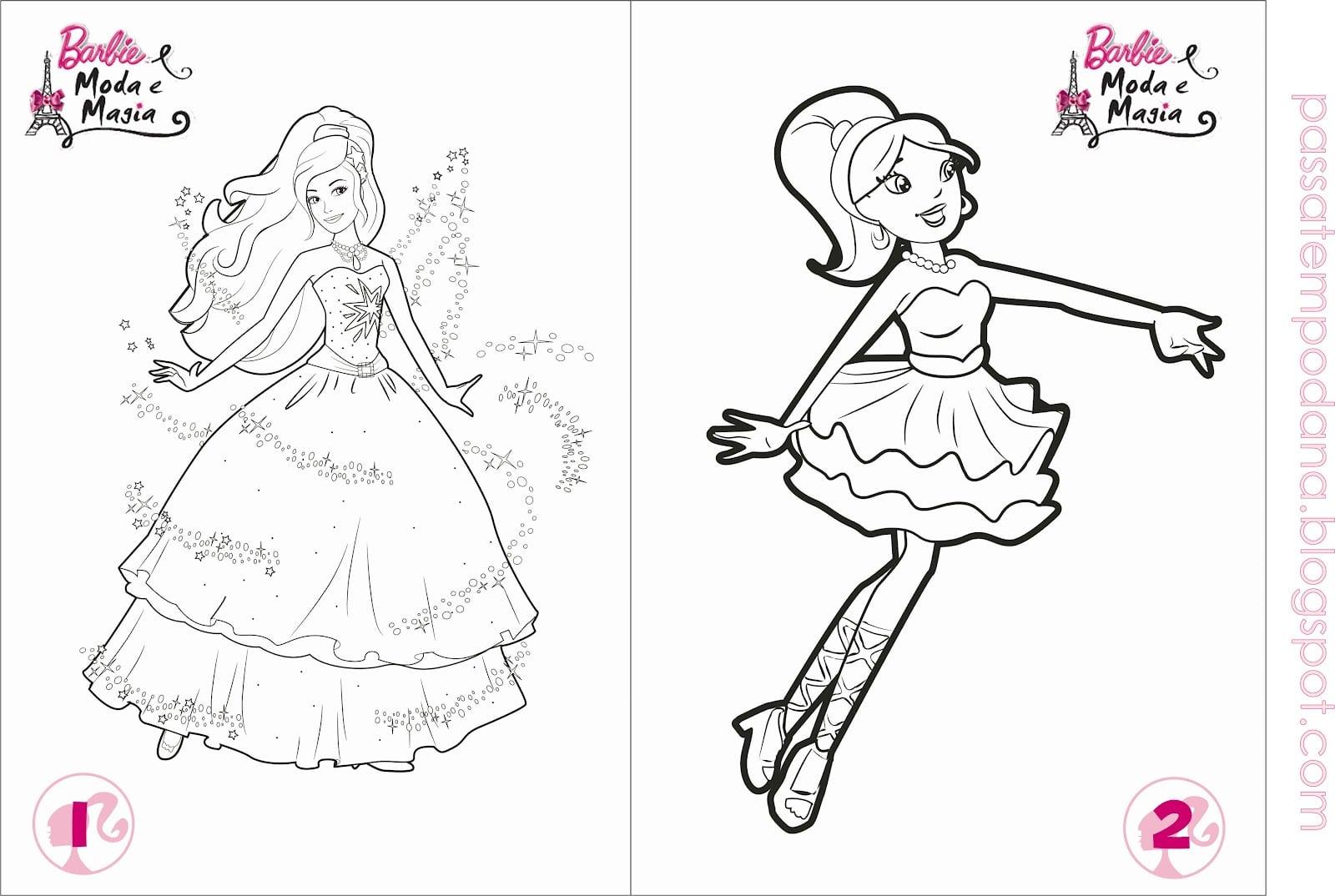 Barbie Em A Princesa E A Aldeã Para Colorir