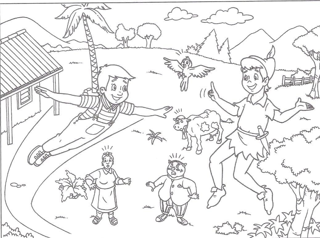 Desenho De Peter Pan 2 Para Colorir