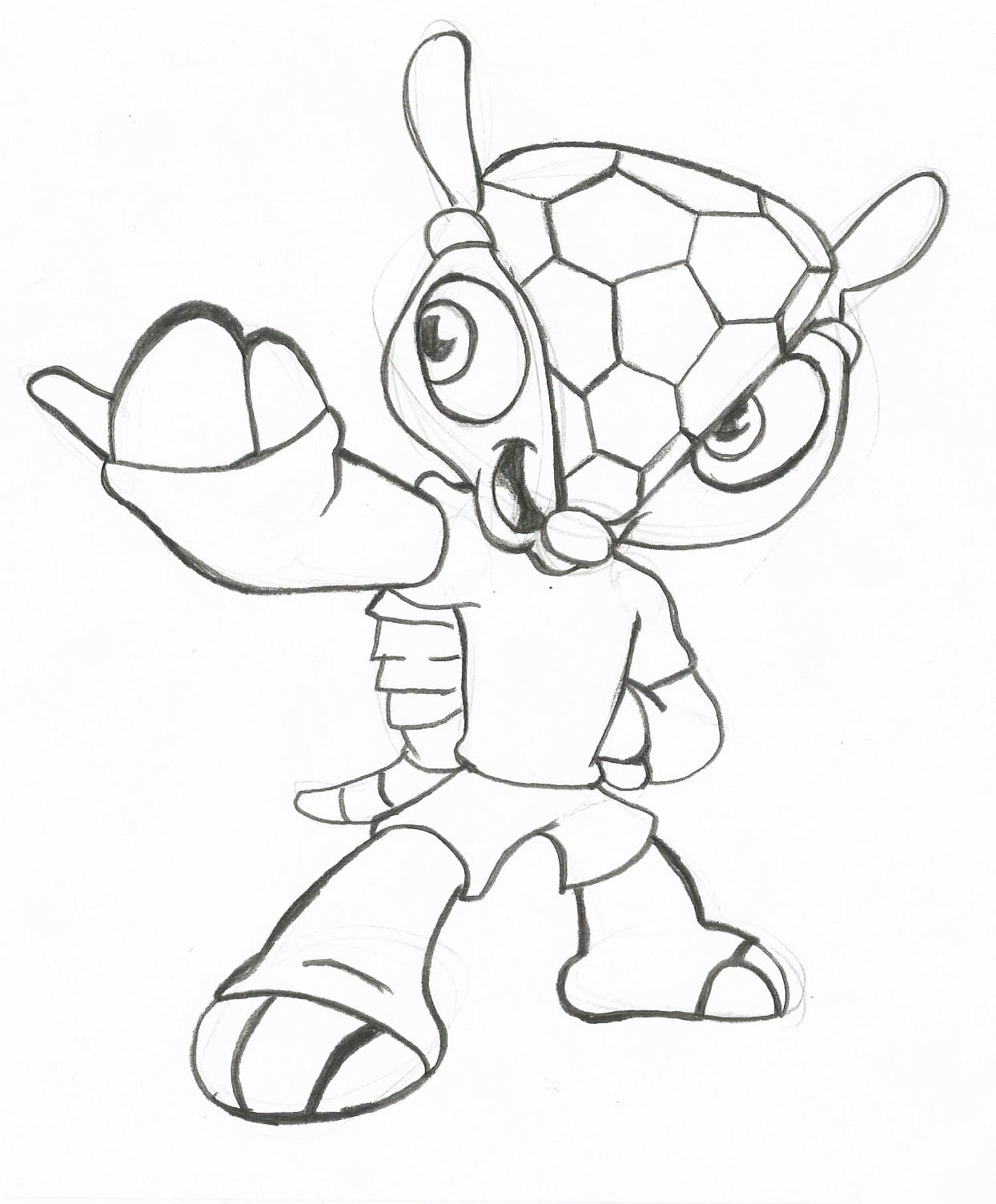 Desenho Para Imprimir Do Fuleco