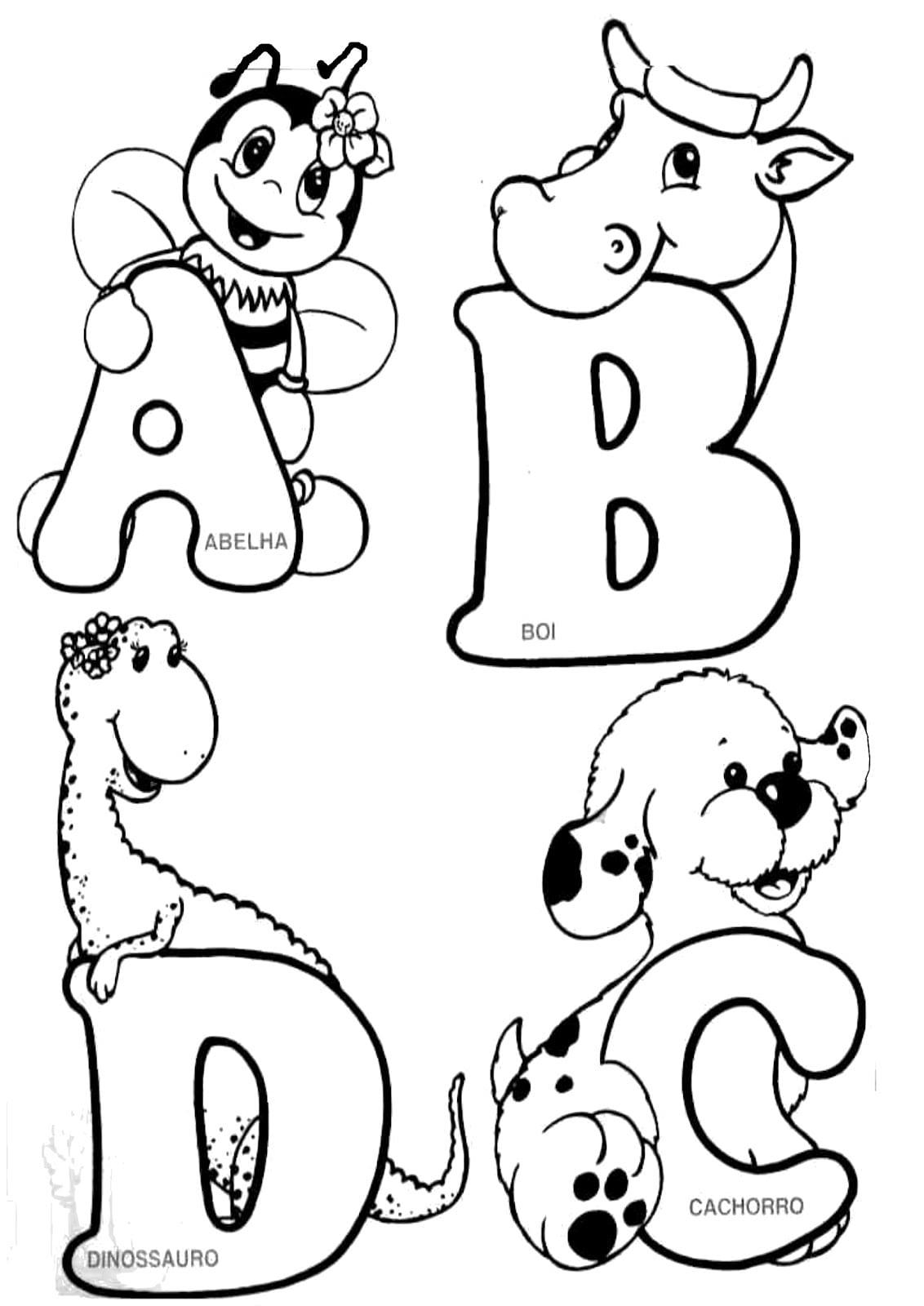 Letra Do Alfabeto Para Colorir