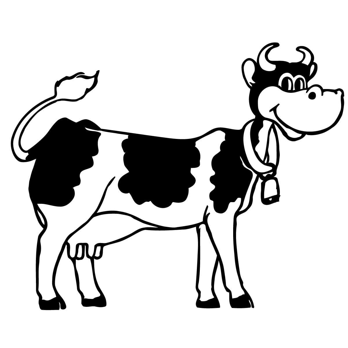 Desenho Para Colorir Vaca