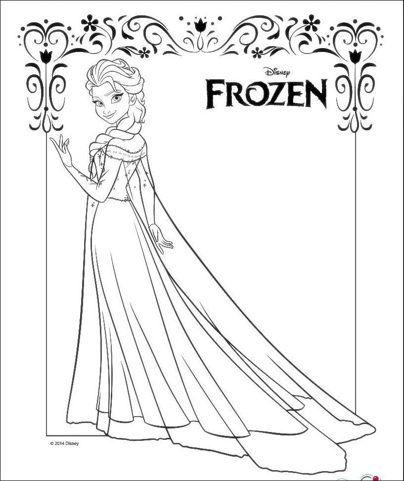 Dibujos Para Colorear De Elsa De Frozen