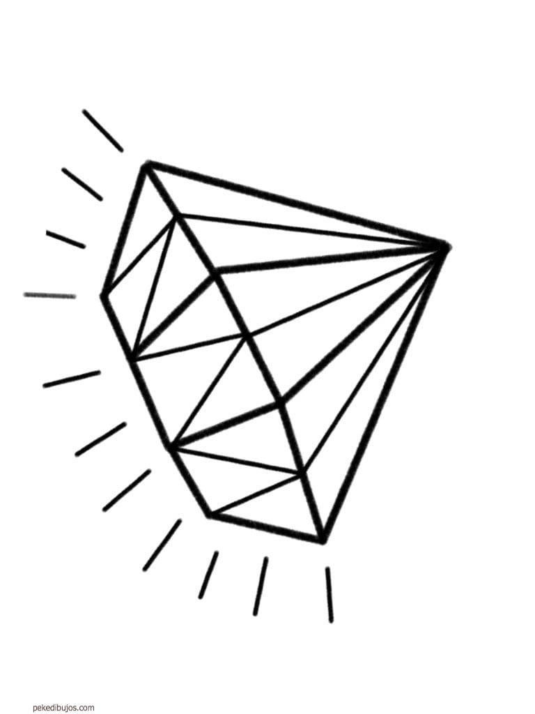 Dibujos De Diamantes Para Colorear