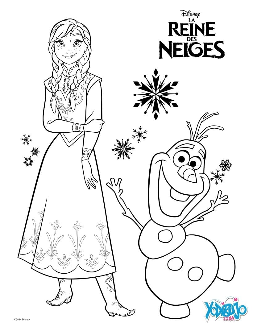 Dibujos Para Colorear Elsa, La Reina De Las Nieves