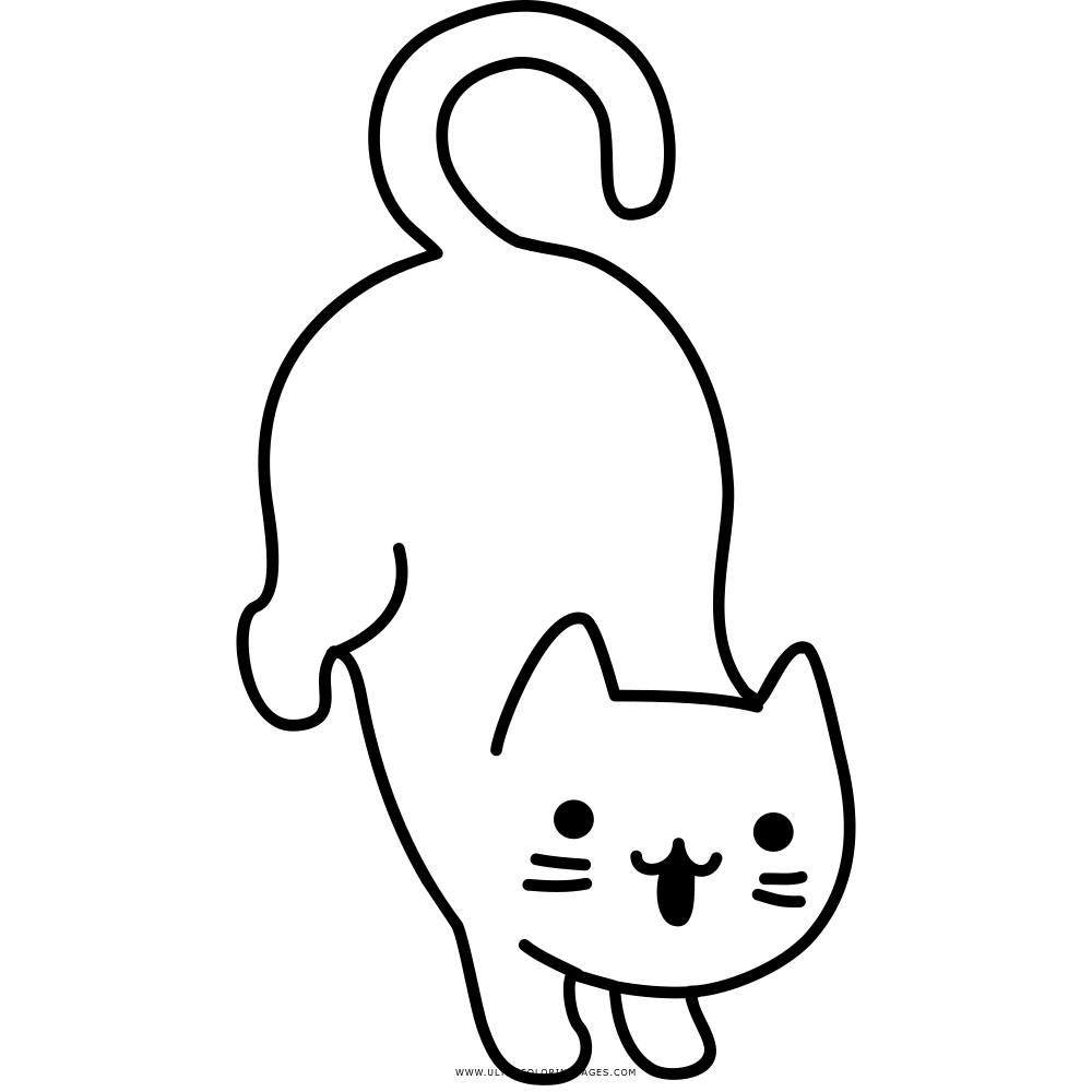 Gato Desenho Para Colorir