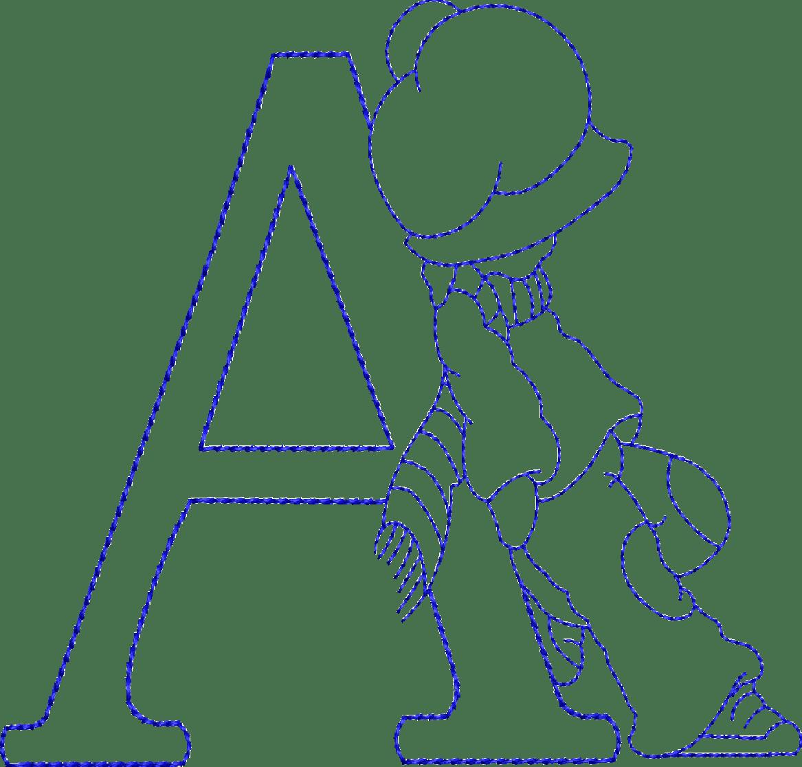 Alfabeto Riscos Ou Moldes De Letras Sunbonnet Sue Bordado
