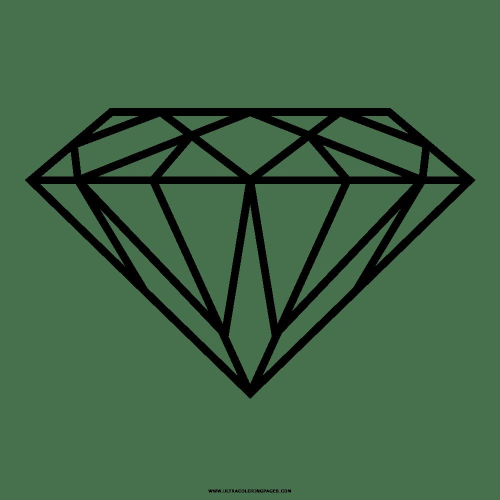 Dibujo De Diamante Para Colorear