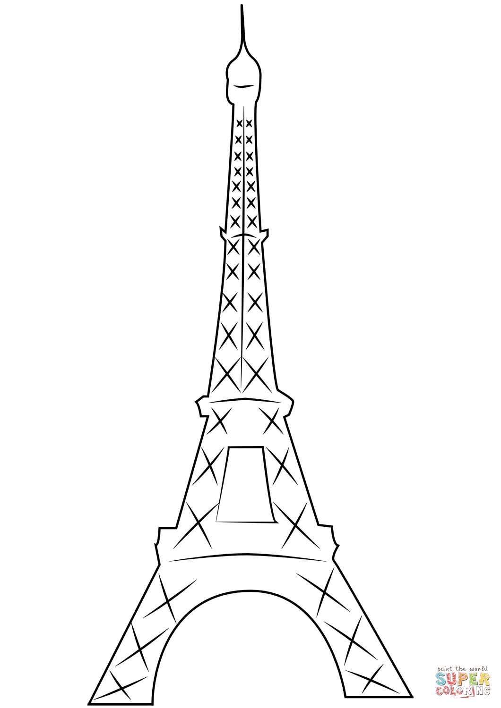 Desenho De Torre Eiffel Em Paris Para Colorir