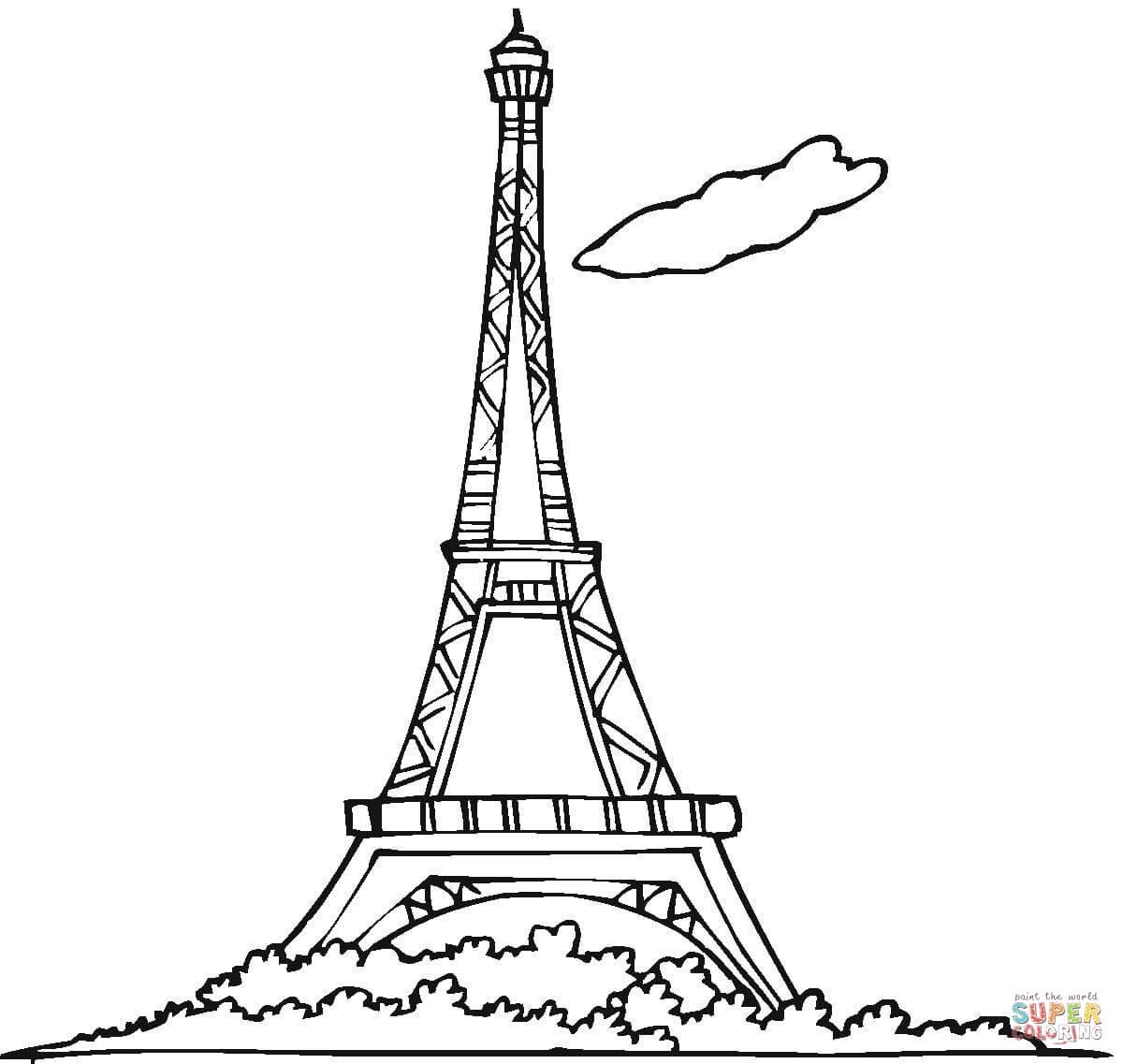 Desenho De Torre Eiffel Para Colorir