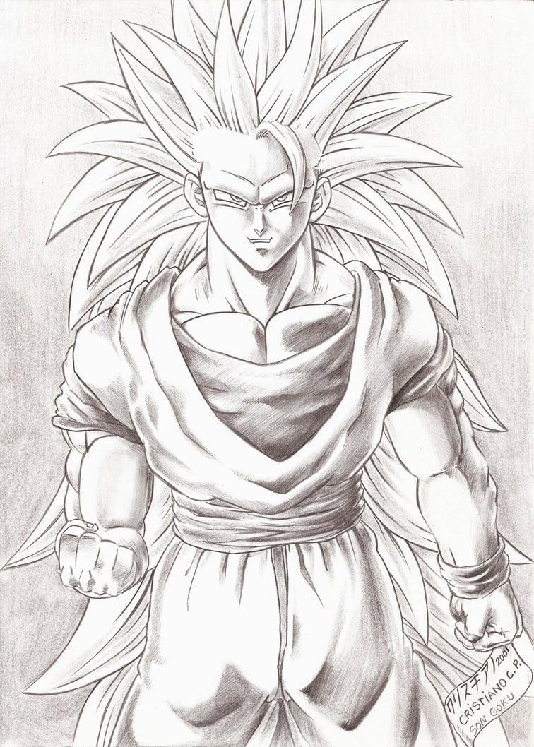 Goku Nivel 3 By Rounindx On Deviantart